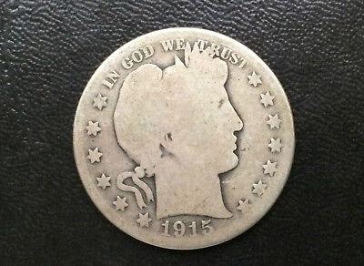 1915-D Barber Silver Half Dollar U.S. Coin A0344 2