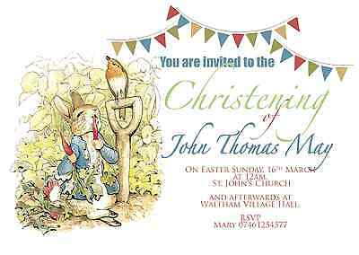 Peter rabbit beatrix potter christening birthday invitations invites 1 of 4free shipping peter rabbit beatrix potter christening birthday invitations invites envelopes filmwisefo