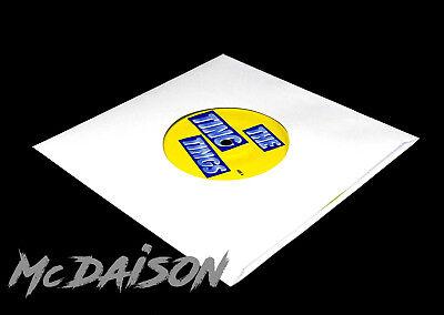 """McDAISON 300pz Busta bianca nuova FORATA CARTA SPESSA DELUXE x dischi 45 giri 7"""" 3"""