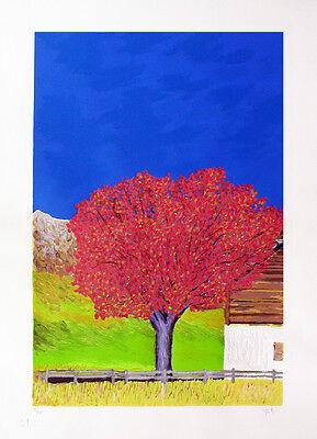 """GIANCARLO FANTINI- """"L'albero""""  - Serigrafia POLIMATERICA cm 50x70 2"""
