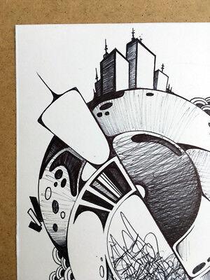 Dessin Signe Canvas Peinture Graffiti Street Art Tableau Contemporain Tag Eur 65 00 Picclick Fr