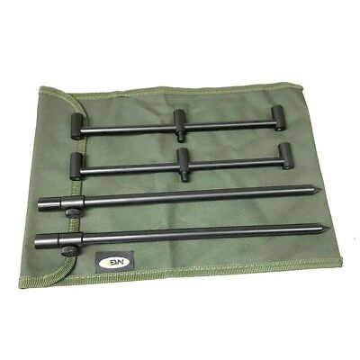 3 Rod Buzz Bar Set Black With Bag 2 30-50Cm Bank Sticks 2 25Cm Bars Carp Fishing 2