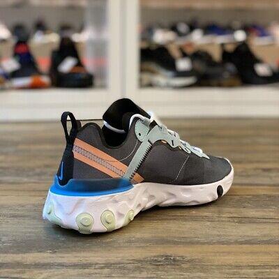 NIKE REACT ÉLÉMENT 55 Gr.40 Chaussures Baskets Noir BQ6166 300 ...