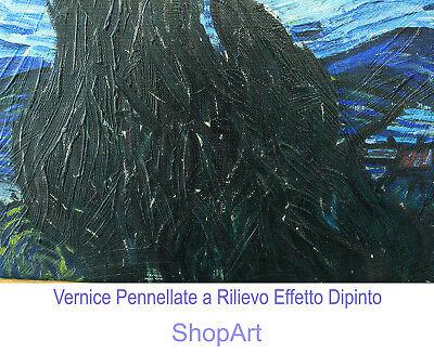 Quadro Ando Hiroshige IL Mare di Satta Stampa su Tela Canvas Effetto Dipinto 4