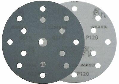 "Mirka Basecut 15 Hole Hook n Loop Sanding Discs H&L 150mm 6"" Sand Paper Disks 6"