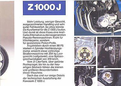 Automobilia Kawasaki 1000 Gtr Prospekt 1986 Auto & Motorrad: Teile 193628