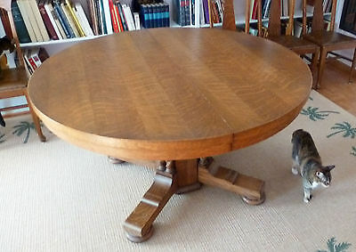 10 Of 12 Antique Oak Pedestal Dining Table And 6 Hale Chairs