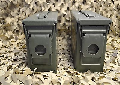 ** 2 PACK **NEW MILITARY M19A1 7.62 / 308 30 Cal AMMO CAN ** FREE SHIPPING** 3