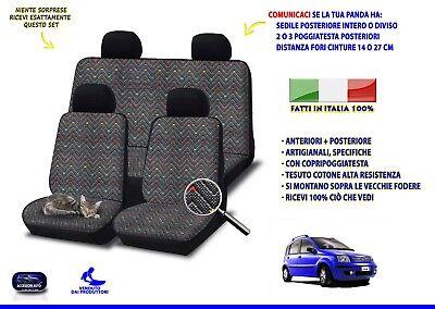 COPRISEDILI PER AUTO SEDILI FODERE FIAT PANDA 1A SERIE DAL 2003-2011 GRIGIO SC