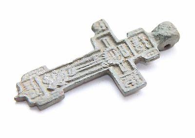 Ancient Old Bronze Golgotha Tsata Cross (AVG01) 3