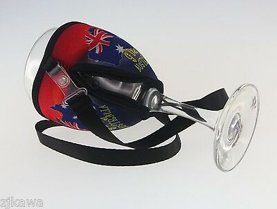 4x Wine Glass Cooler Insulator Holder with Lanyard AUSTRALIA Souvenir 5