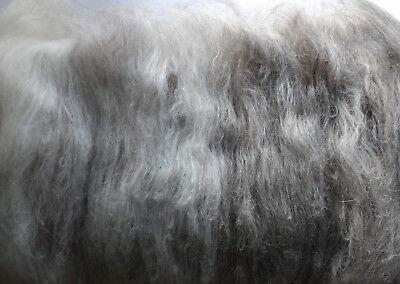 Badger Blend Carded Wool Batt 10-100g Undyed Natural Shetland Wool Felt or Spin
