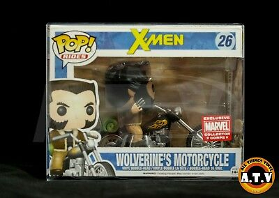 Vinyl Case Protector for  Funko Pop Rides Wolverine \ Daryl Dixon & Chopper  x 1 3