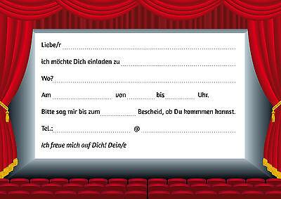 Außergewöhnlich Einladung Geburtstag Kino Vorlage U2013 Askceleste, Einladungs