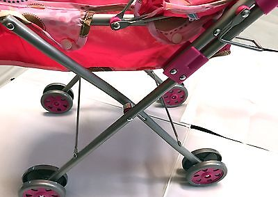 Pink Stroller With Pink Doll Toy 7