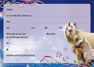 pferde einladungskarten zum kindergeburtstag geburtstagseinladungen kinder eur 3 99 picclick de. Black Bedroom Furniture Sets. Home Design Ideas