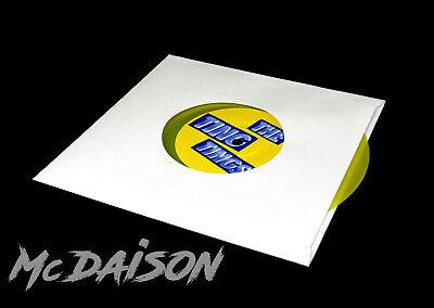 """McDAISON 300pz Busta bianca nuova FORATA CARTA SPESSA DELUXE x dischi 45 giri 7"""" 2"""