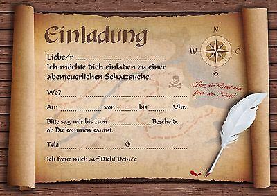 piraten einladungskarten kindergeburtstag geburtstagseinladungen