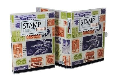 Stamp Collection Kit/Album, w/ 10 Pages, Holds 150-300 Stamps (No Stamps) 8