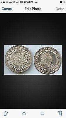 RDR St. Pölten Austria Restrike 1/2 Taler 1624 (1974 ] Silver coin