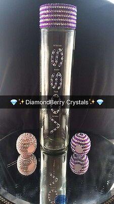 VOSS WATER BOTTLE Glass Large Still/sparkling 800ml Bling Bottle
