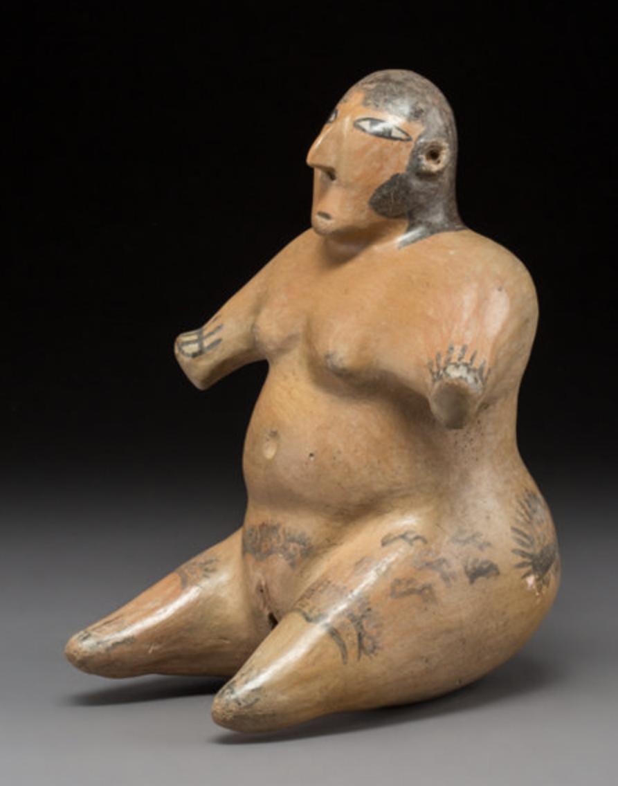 A Rare and Impressive Large Nazca Figure Pre Columbian Art Peru 2
