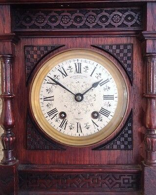 ANTIQUE 1872 WALES McCULLOCH CHEAPSIDE LONDON LENZKIRCH MOV'T MANTLE CLOCK 2