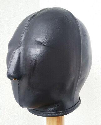 100 % Ledermaske, schwarz, handgefertigt. 100 % Leather Mask, handmade, black 3