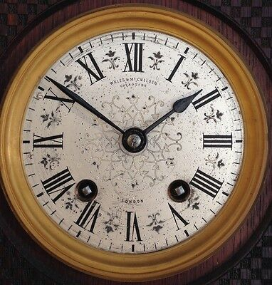 ANTIQUE 1872 WALES McCULLOCH CHEAPSIDE LONDON LENZKIRCH MOV'T MANTLE CLOCK 3