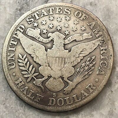 1914-S Barber Half Dollar BETTER DATE - FREE SHIPPING!!!!!!!!!!!!!! 4