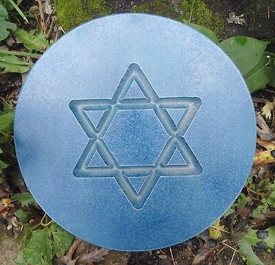 Israel Star of David holiday plaque mold plastic cement plaster casting mould