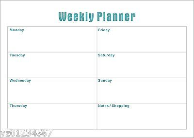 A4 Weekly Magnetic planner with Free Whiteboard Marker (Aust Made) Top Selling