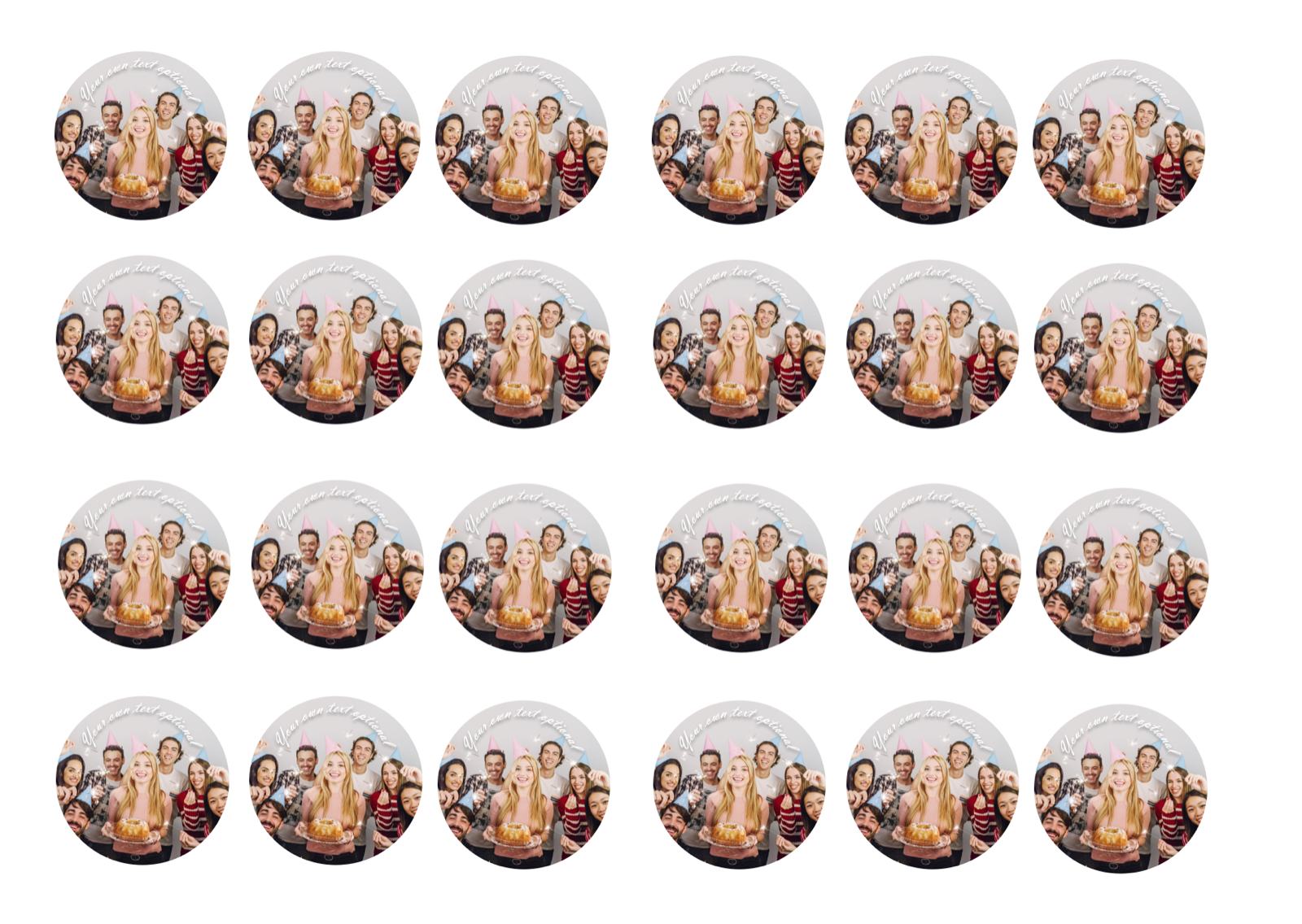 YOUR OWN EDIBLE PHOTO cupcake toppers ANY personalised image ICING OR WAFER 4
