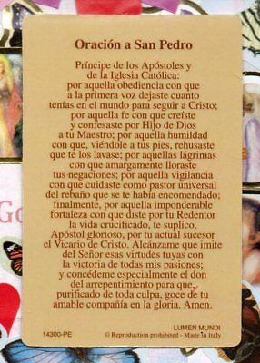 SAN PEDRO - Oracion a San Pedro - Spanish - Relic Paperstock Holy ...