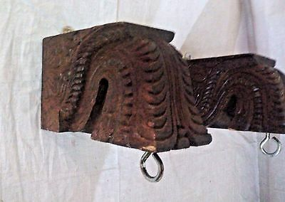 Wall Hanging Wooden Corbel Bracket Pair used for hanging lamp Bells Home Decor 2