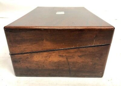 Antique Rosewood & Mother of Pearl Inlaid Writing Box / Slope for Restoration 6