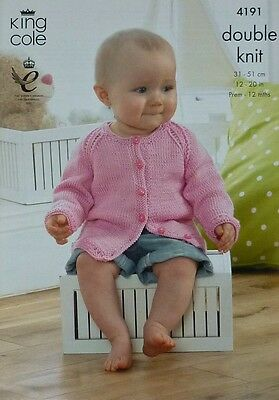 KNITTING PATTERN Baby Cardigans, Hats, Hoodie and Top DK King Cole 4191 2