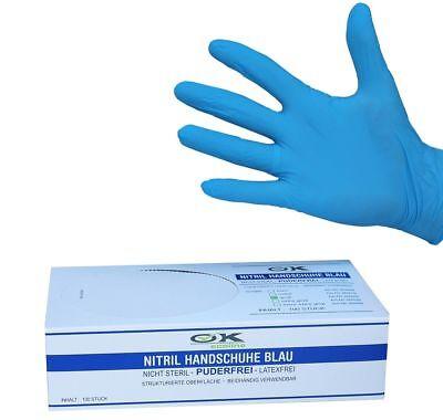 Nitril Einweghandschuhe Einmalhandschuhe puderfrei Größe XXL - Blau Box a 100