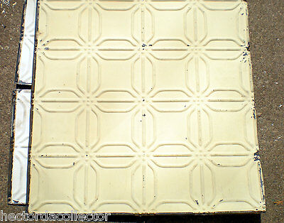 SALE Antique Ceiling Tin Tile Frame Simple and Elegant Shabby Chic Canvas 2