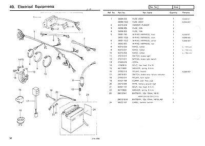 kawasaki parts manual kz650 z650 kz650-b2 1978 replacement spares  catalog list 2