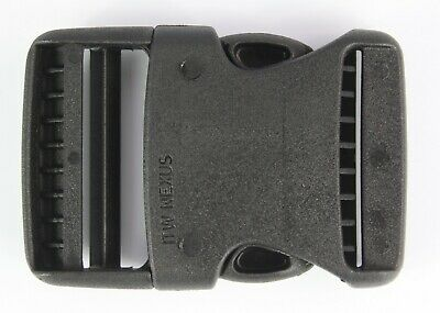 Rounded Side Release Buckles Black Plastic Clips Rucksacks Replacement All Sizes 3