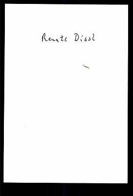 Renate Dissl Autogrammkarte Original Signiert ## BC 22011