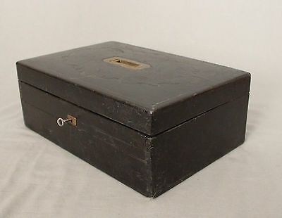 19th Century Leather Writing Box by W Leuchars 38 Piccadilly London 8