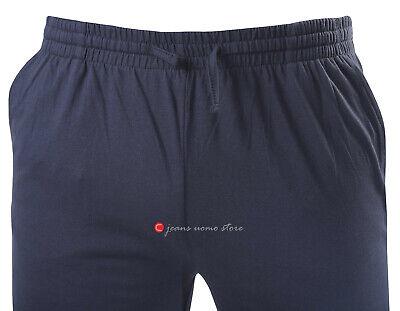 Pantalone tuta uomo FELPA cotone leggero estivo elastico TAGLIE FORTI 4 colori 2