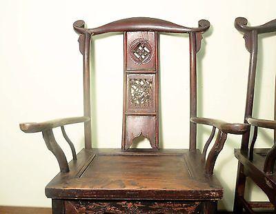 Antique Chinese High Back Chairs (Pair) (5742), Circa 1800-1849 2