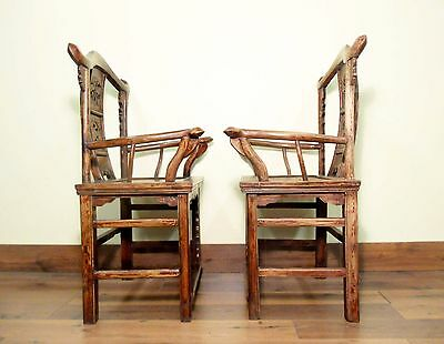 Antique Chinese Arm Chairs High Back (5606) (Pair), Circa 1800-1849 10