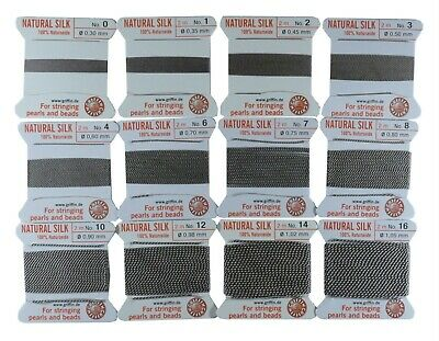 Griffin 100% Silk Cord Bead String Thread  #8-10-12-14-16 2