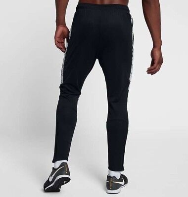 Nike Dry Squad Men/'s Football Pants Joggers style 859281 657 Black White L
