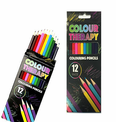 24 x ADULT COLOURING PENCILS FOR ADULT/CHILD COLOUR THERAPY STRESS RELIEF 2