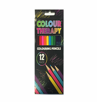 24 x ADULT COLOURING PENCILS FOR ADULT/CHILD COLOUR THERAPY STRESS RELIEF 4